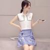 ชุดเสื้อกระโปรงโทนสีฟ้า ขาว สวยๆ น่ารัก สดใส
