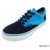[พร้อมส่ง] รองเท้าผ้าใบแฟชั่น รุ่น ER5 สีฟ้าดำ (ทูโทน)