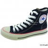 [พร้อมส่ง] รองเท้าผ้าใบแฟชั่น รุ่น 222 สียีนส์ดำ ทรงหุ้มข้อ
