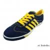 [พร้อมส่ง] รองเท้าผ้าใบแฟชั่น รุ่น AC สียีนส์เหลือง