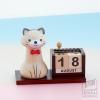ของขวัญ Wooden Gift - ปฏิทินปากกา แมว