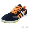 [พร้อมส่ง] รองเท้าผ้าใบแฟชั่น รุ่น info สีดำส้ม