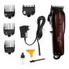 [KEMEI] ปัตตาเลี่ยนไร้สายสีแดง แบตตาเลี่ยนตัดผม แบตเตอร์เลี่ยนคนไร้สาย แบตตาเลี่ยนตัดผมชาย อุปกรณ์ตัดผม RED Professional Electric Hair Clipper For Men & Women