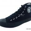 [พร้อมส่ง] รองเท้าผ้าใบแฟชั่น รุ่น 222 สีดำล้วน ทรงหุ้มข้อ