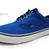 [พร้อมส่ง]รองเท้าผ้าใบแฟชั่น สีฟ้าน้ำทะเล รุ่น V4