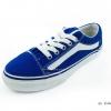 [พร้อมส่ง] รองเท้าผ้าใบแฟชั่น รุ่น E-8 สีน้ำเงิน