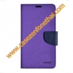 เคส asus zenfone 4 MERCURY FANCY DIARY CASE สีม่วง ดำ