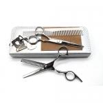 "SMITH CHU ชุดกรรไกรตัดผมและกรรไกรซอยผม6นิ้ว/สีเงิน พร้อมซอยผม อุปกรณ์ตัดผมด้วยตัวเอง ตัดผมเอง SILVER 6"" Professional Hair Cutting & Thinning Scissors Set (A2A)"