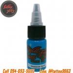 [WORLD FAMOUS] หมึกสักเวิล์ดเฟมัส หมึกสักลายเวิล์ดเฟมัส สีสักลายสีฟ้า ขนาด 1/2 ออนซ์ สีสักนำเข้าจากประเทศอเมริกา World Famous Tattoo Ink - Bangkok Blue (1/2OZ/15ML)