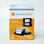 บัตรเติมเงิน eShop (US) 20$