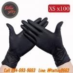 ถุงมือยางอย่างหนาสำหรับสักไซส์ XS ถุงมือไนไตร100ชิ้น ถุงมือยางไนไตร Professional Nitrile Tattoo Artists Gloves (Size XS - 100PCS)