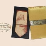 ของพรีเมี่ยมเนคไทผ้าไหม (น้ำตาลอ่อน) พร้อมกล่องผ้าไหม ขนาด 4 x 53 นิ้ว