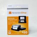 บัตรเติมเงิน eShop (US) 50$