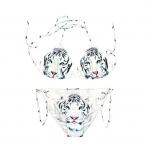ชุดว่ายน้ำ บิกินี่ ลายเสือขาว Bikinni - Size M