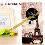 เคสzenfone 5 ฝาพับ FLIP COVER ลายวินเทจ PARIS