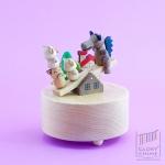 กล่องเพลง 3 Little Pigs ♫ T้he Entertainer ♫ กล่องดนตรี Wooderful Life