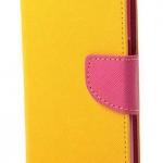 เคส asus zenfone 6 ฝาพับ ฝาปิด mercury fancy diary case สีเหลือง