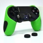 Thicker Half Skin Cover ซิลิโคนเคสแบบหนา สีเขียว สำหรับจอย PS4 แถมฟรี ซิลิโคนครอบปุ่มอนาล็อก 2 ชิ้น