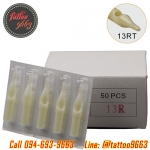 [13RT] ปลายกระบอกเข็มสัก แพ็ค50ชิ้น ปลายพลาสติกเบอร์ 13RT Disposable Plastic Nozzle Tattoo Needle Tips (50PC)