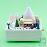 กล่องเพลงรถไฟเมืองหิมะ ♫ Deck The Halls ♫ กล่องดนตรี Wooderful Life