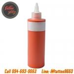 หมึกสักลาย สีสักลายสีส้ม ขนาด 8 ออนซ์ Tattoo Ink (ORANGE - 8OZ/245ML)