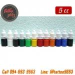 [SET 12COLORS/5CC] ชุดหมึกสักลายแบ่งขายคละสี 12 สี หมึกสัก สีสักลาย ขนาด 5 ซีซี Tattoo Ink Set (5ML - 12PC)