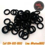 โอริงยางรองใบตีเครื่องสักสีดำ ±100ชิ้น Black Rubber O-ring's for Tattoo Machine Gun (±100PCS)