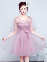 ชุดไปงานแต่งงาน ชุดออกงานสีชมพู แนวสวยหรู ดูดี น่ารัก