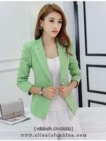 เสื้อสูททำงานผู้หญิงสีเขียว ทรงสวย ดูดี ราคาถูก