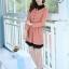 ชุดทำงานสวยๆ ชุดเดรสสั้น สีชมพู คอปก แขนยาว ให้ลุคสาวหวานสไตล์เกาหลี สวยหรู ดูดี ( S M L ) thumbnail 7