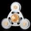 Fidget Spinner Gear Silver - Triangle thumbnail 1