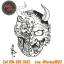 [Horimouja] หนังสือลายสัก Old School หนังสือสักลายหัวกระโหลก รูปลายสักสวยๆ รูปรอยสักสวยๆ สักลายสวยๆ ภาพสักสวยๆ แบบลายสักเท่ๆ แบบรอยสักเท่ๆ ลายสักกราฟฟิก Cranium Tattoo Manuscripts Flash Art Design Outline Sketch Book (A4 SIZE) thumbnail 4