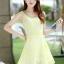 ชุดเดรสแฟชั่นเกาหลี ชุดเดรสน่ารัก ชุดเดรสสั้น ชุดเดรสสวย ๆ ชุดเดรสลูกไม้ คอกลม แขนกุด กระโปรงบาน ( S,M,L,XL ) thumbnail 9