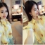 เสื้อทำงานแฟชั่นสไตล์เกาหลีสวยๆ เสื้อแขนสั่นสีเหลือง คอปก ผ้าชีฟองเนื้อผ้าบางเบาใส่สบาย กระดุมผ่าหน้า แถมฟรีเสื้อซับในสีขาว , thumbnail 3