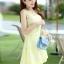 ชุดเดรสแฟชั่นเกาหลี ชุดเดรสน่ารัก ชุดเดรสสั้น ชุดเดรสสวย ๆ ชุดเดรสลูกไม้ คอกลม แขนกุด กระโปรงบาน ( S,M,L,XL ) thumbnail 11