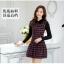 ชุดเดรสทำงานเกาหลี ลาบตาราง(ลายสก๊อต) แขนยาว ผ้าสักหลาด เนื้อผ้าดี ( S M L XL XXL ) thumbnail 4