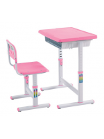 ชุดโต๊ะหนังสือเด็ก Smart Kids Desk สีชมพู
