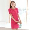 ชุดเดรสทำงานสีชมพู น่ารักสดใส ลุคสาวอออฟิศสไตล์เกาหลี