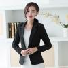 เสื้อสูททำงานผู้หญิงสีดำ แขนยาว ทรงสวย เรียบร้อย ดูดี