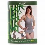 [ZIRANA] ชุดกระชับสัดส่วนผู้หญิง ชุดลดน้ำหนัก ชุดลดความอ้วน กางเกงลดพุง กางเกงในเก็บหน้าท้อง กางเกงสเตย์รัดหน้าท้อง กางเกงลดต้นขา เสื้อกระชับกล้ามเนื้อ Bamboo Charcoal 3in1 Slimming Suit for Women