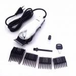[KEMEI] ปัตตาเลี่ยนไฟฟ้าสีขาว แบตเตอร์เลี่ยนตัดผมชนิดมีสาย แบตเตอเลี่ยนตัดผมชาย แบตตาเลี่ยนเด็ก อุปกรณ์ตัดผม ที่ตัดผมชาย WHITE Professional Electric Hair Clipper For Men & Women