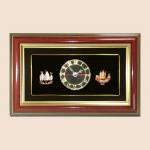 ของพรีเมี่ยม กรอบคู่นาฬิกา Set เรือ (ขนาด : 7 x 11 นิ้ว )