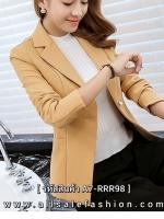 เสื้อสูททำงานผู้หญิงสีเหลือง ทรงสวย ลุคสวยดูดี เป็นทางการ