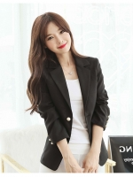 เสื้อสูททำงานผู้หญิงสีดำ แขนยาว ทรงสวย ดูดี