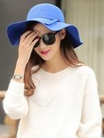 หมวกปีกกว้างเที่ยวทะเล สีน้ำเงิน น่ารัก