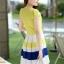ชุดเดรสทำงานสวยๆ ราคาถูก ( S,M,L ) ชุดเดรสกระโปรงสั้นสีเหลือง ผ้าชีฟอง คอปก กระโปรงลายริ้วขวางขาว เขียว เหลือง thumbnail 2