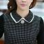 ชุดทำงานออฟฟิศ คุณครู ราชการ ชุดแซกกระโปรงสั้น ลายตาราง สีดำ แขนยาว ชุดเดรสสวยหวาน น่ารัก แฟชั่นสไตล์เกาหลี ( M,L,XL) thumbnail 12
