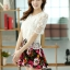 ชุดเดรสสั้นลายดอกไม้ เสื้อผ้าลูกไม้สีขาว เย็บต่อด้วยกระโปรงสั้นลายดอกไม้ เป็นชุดเดรสแฟชั่นน่ารักๆ สไตล์เกาหลี ( S,M,L,XL,) thumbnail 5