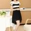 ชุดเดรสทำงานสวยๆ ชุดเดรสสั้นสีดำ ผ้าชีฟอง เนื้อผ้าดี ( S M L XL ) thumbnail 5
