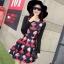 ชุดเดรสทำงานสีแดงพิมพ์ลายตุ๊กตาผู้หญิง แขนยาว คอกลม เอวเข้ารูป สวยหวาน thumbnail 1